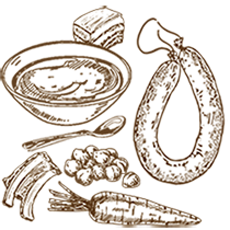 ilustración Carta Novelty Cocido ibérico