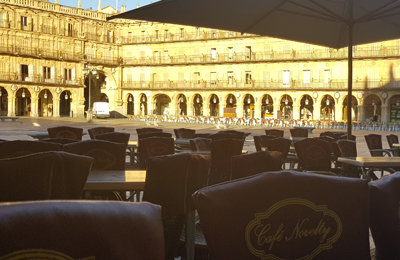 terraza café Novelty Plaza Mayor de Salamanca